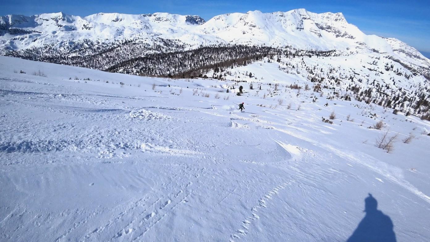 Sníh v severním svahu je dokonalý