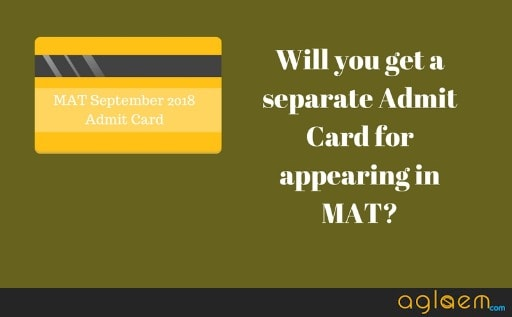 MAT September 2018 Admit Card