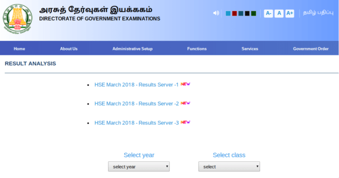 Tamil Nadu 10th Supplementary Result 2018