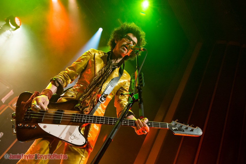 Frankie Poullain of The Darkness performing at The Vogue Theatre in Vancouver, Bc on April 4th 2018