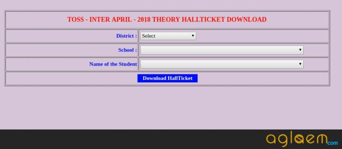 TOSS Inter Hall Ticket Apr| May 2018