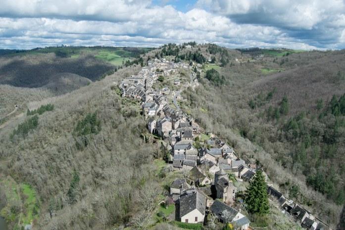 Vistas de Najac desde lo alto del castillo