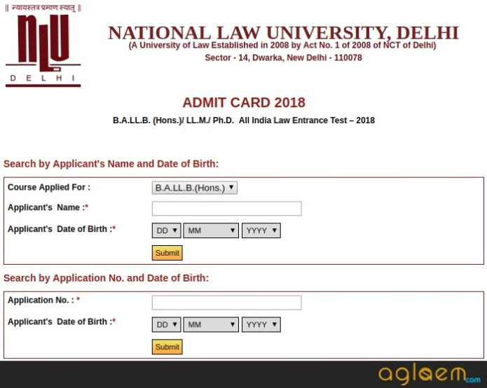 AILET 2018 Admit Card Released Download from nludelhi.ac.in
