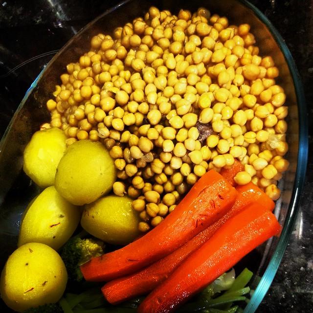 Garbanzos y verduras. Koketo. Segundo vuelco