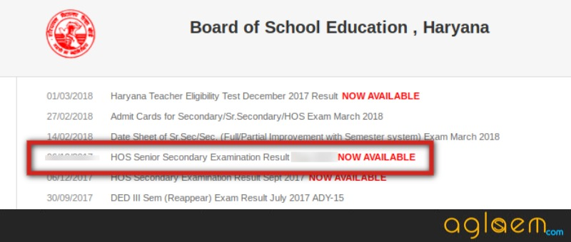 HOS Result March Exam