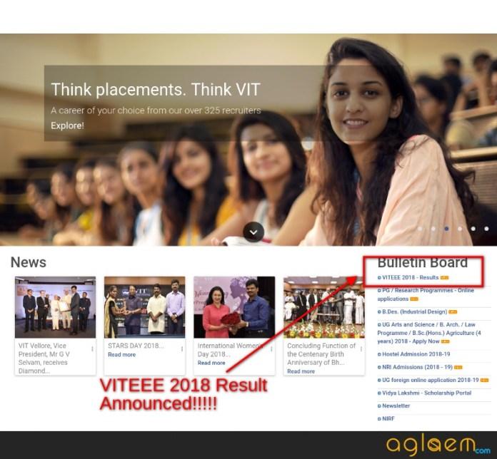 VIT Result 2018