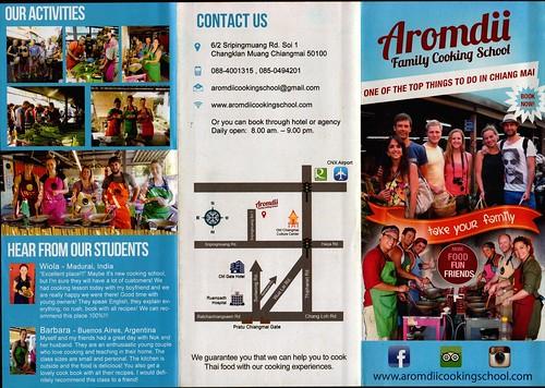 Aromdii Family Cooking School Brochure 1