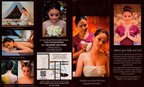 Brochure Peak Spa Chiang Mai Thailand 1