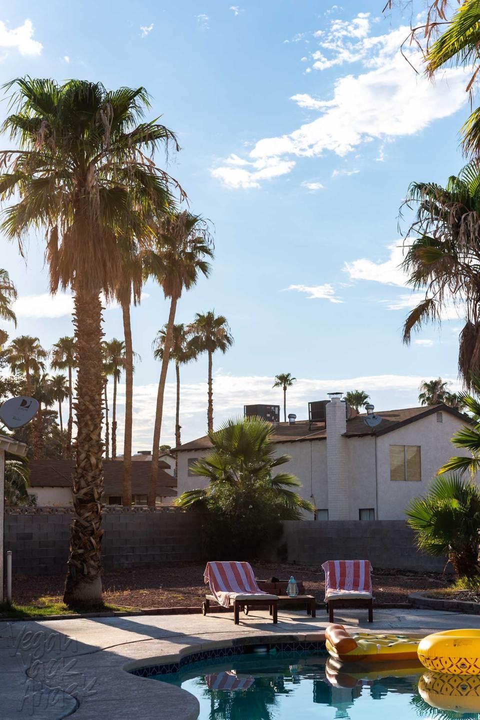 Las Vegas Sunset and Pool