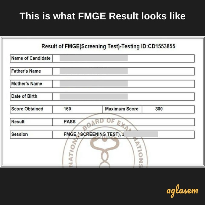 FMGE December 2018 Result   Check Result / Merit for FMGE December 2018 Examination