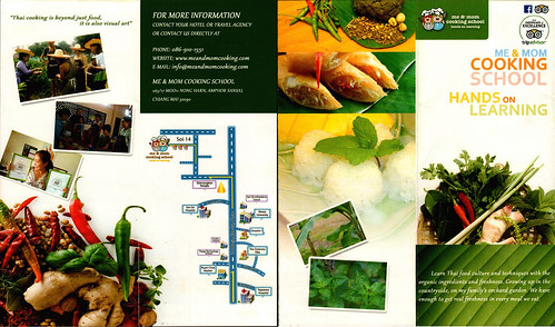 Brochure Me and Mom Cooking School Chiang Mai Thailand 1
