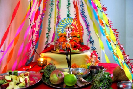 simple ganpati decoration ideas at home images