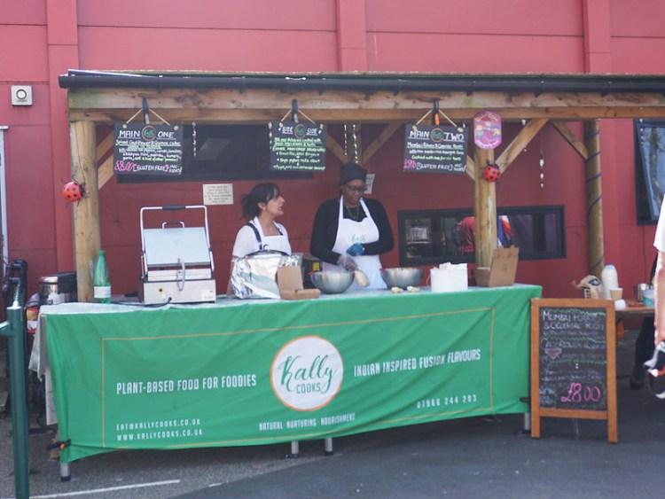Kally Cooks food stall in Stroud Green Market | Gluten free | Vegan | Finsbury Park | Gluten free Stroud Green Market guide