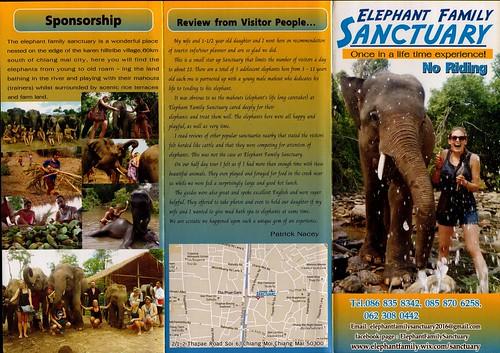 Elephant Family Sanctuary Chiang Mai Thailand Brochure 1