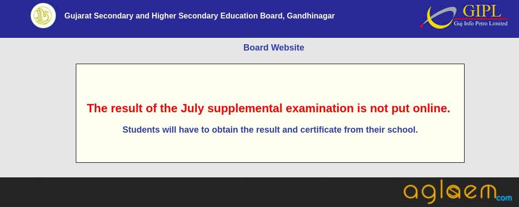 GSEB HSC Purak Pariksha Result 2018