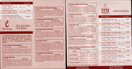 Brochure ITM International Training Massage School Chiang Mai Thailand 5
