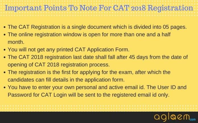 CAT 2018 Registration