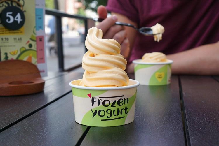 Bottomless frozen yoghurt from Nando's (mango flavour) | gluten free Nando's | gluten free London | gluten free UK | gluten free restaurants