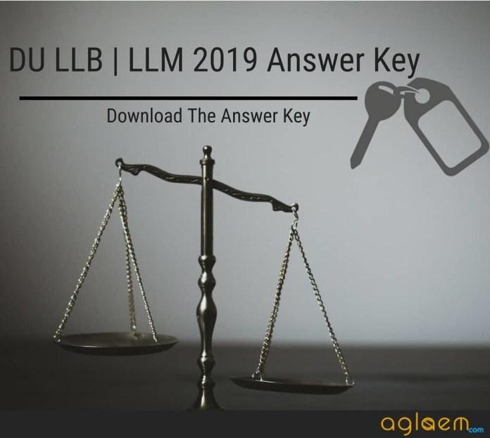 DU LLB | LLM 2019 Answer Key