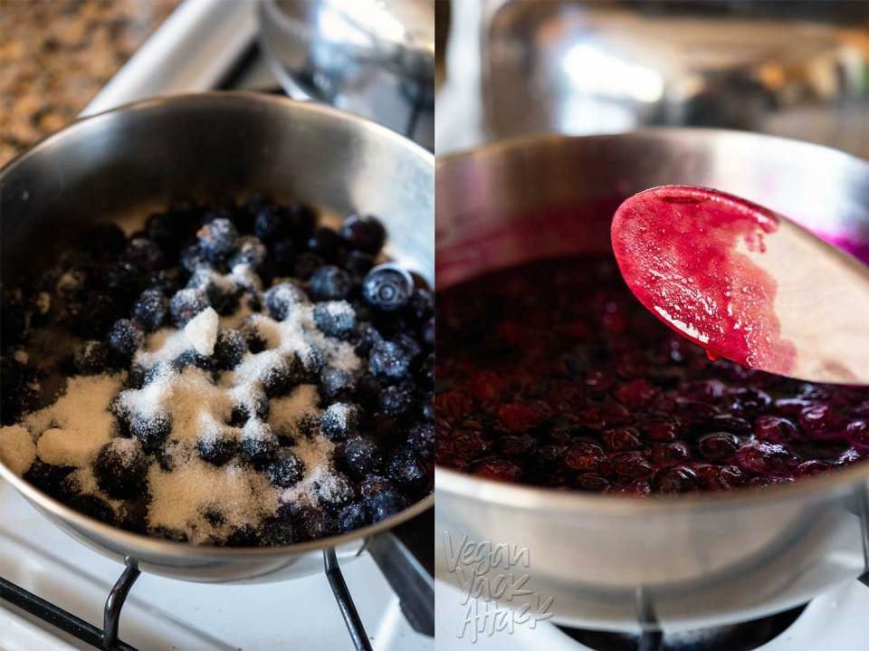 Baked Blueberry Cheesecake {Hot for Food Vegan Comfort