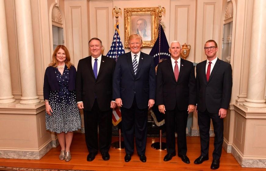 Secretary Pompeo Poses for a Photo With President Trump, V ...