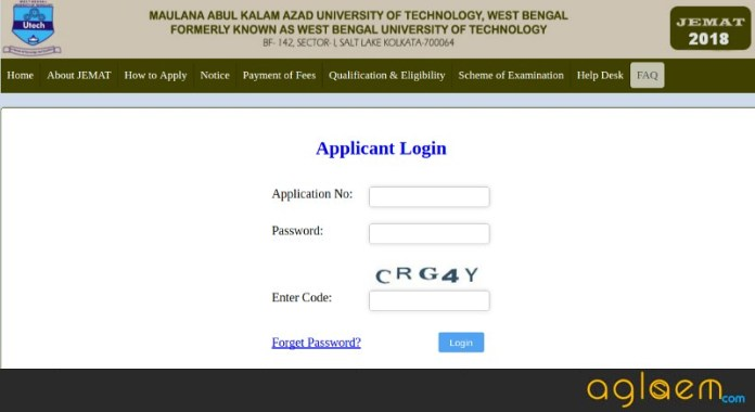 WBUT JEMAT 2018 Admit Card
