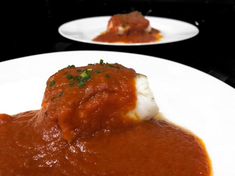 Bacalao en salsa vizcaína. Chef koketo