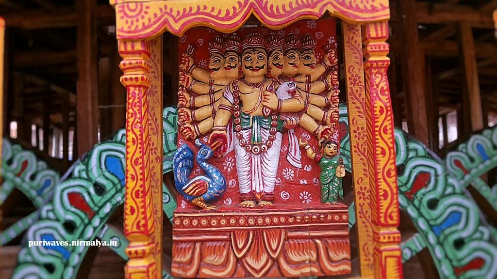 Kartikeya Subsidary deity of Taladhwja Ratha