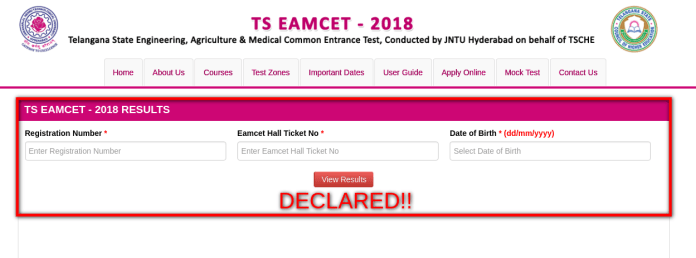 TS EAMCET 2018 Topper