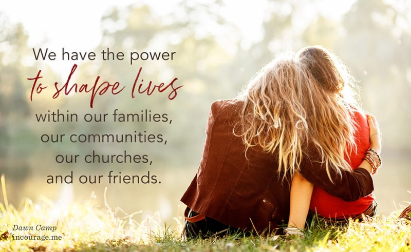 our simple lives can be a powerful influence at (in)courage