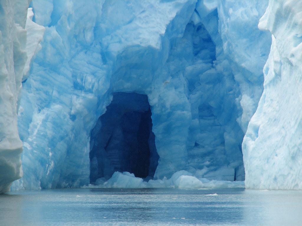 Ice Cave In Glacier Gray