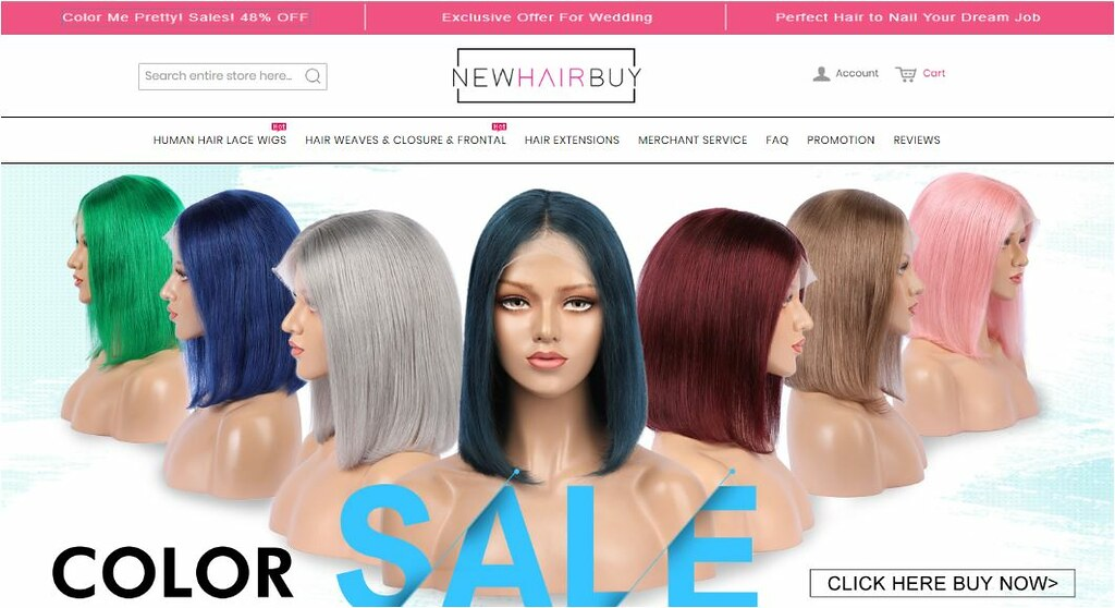 New Hair Buy website