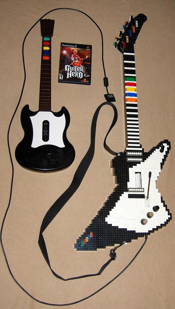 Original Guitar And Lego Guitar