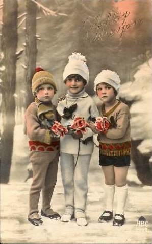 Vintage Postcard Cute Kids Vintage Postcard From My
