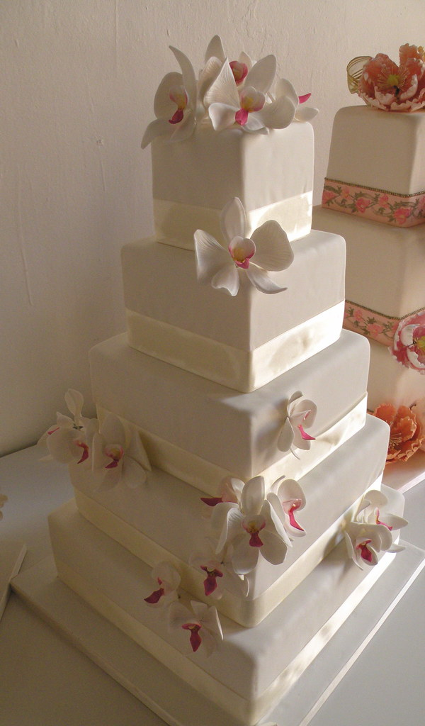 White Orchid Fake Wedding Cakes   Cakes Confidential Confidential         White Orchid Fake Wedding Cakes   by Cakes Confidential