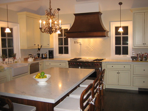 Elegant Kitchen With Copper Hood Focal Point Copper