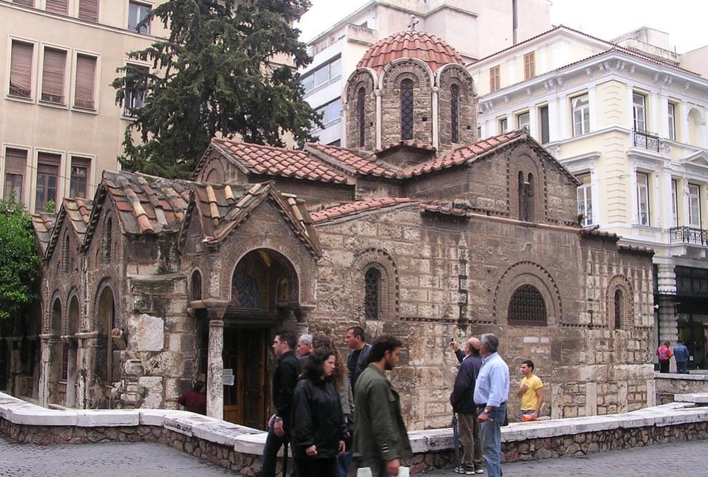 Grecia Atenas Iglesia Kapnikarea Bizantina  15