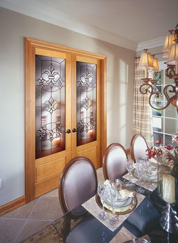 Feather River Door Wood Interior Doors Fleur De Lis In P