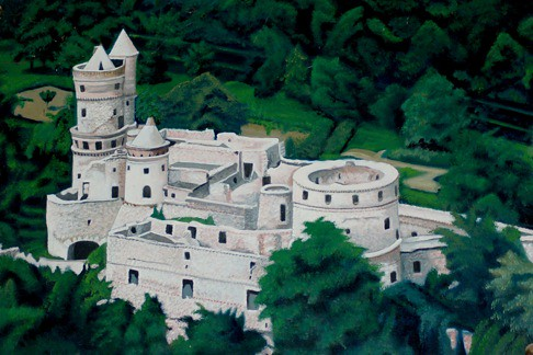 Painting Of The Castle Tarodi Var Is A Castle In Sopron