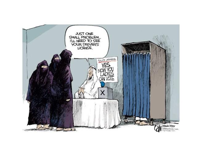 arabia saudita vignetta donne