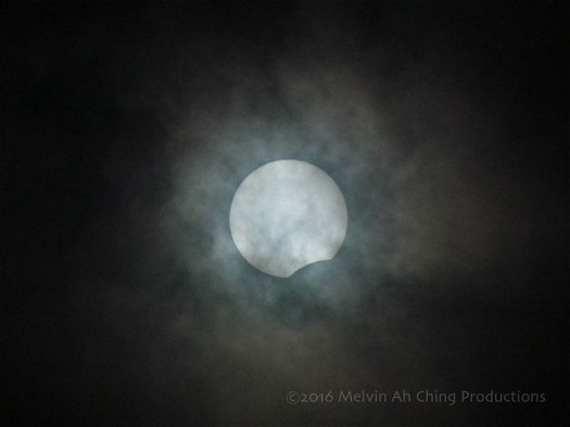 Clouds Obscure Solar Eclipse