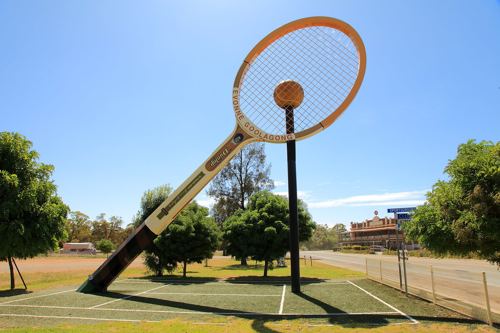 Big Tennis Racquet Barellan