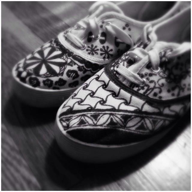 Tangled Sneakers by Laurel Storey, CZT
