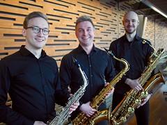 Saksofonitrio Ava / Saxophone trio Ava, photo: Oskari Pöyhtäri