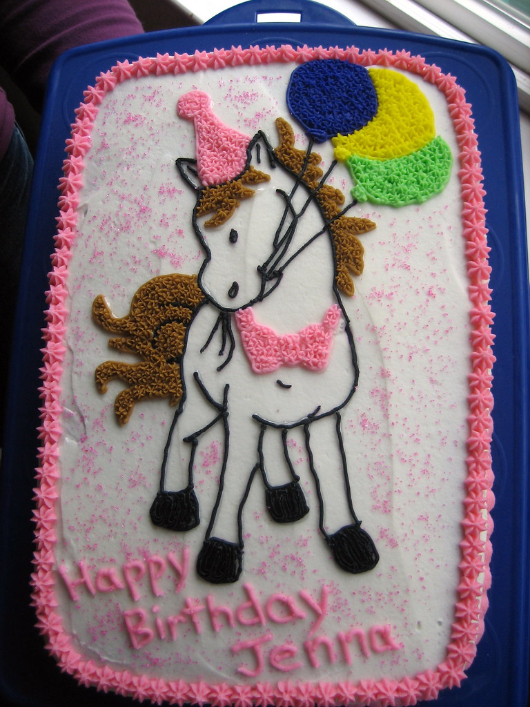 Jennas Birthday Cake Jenna Asked For A Horse On Her