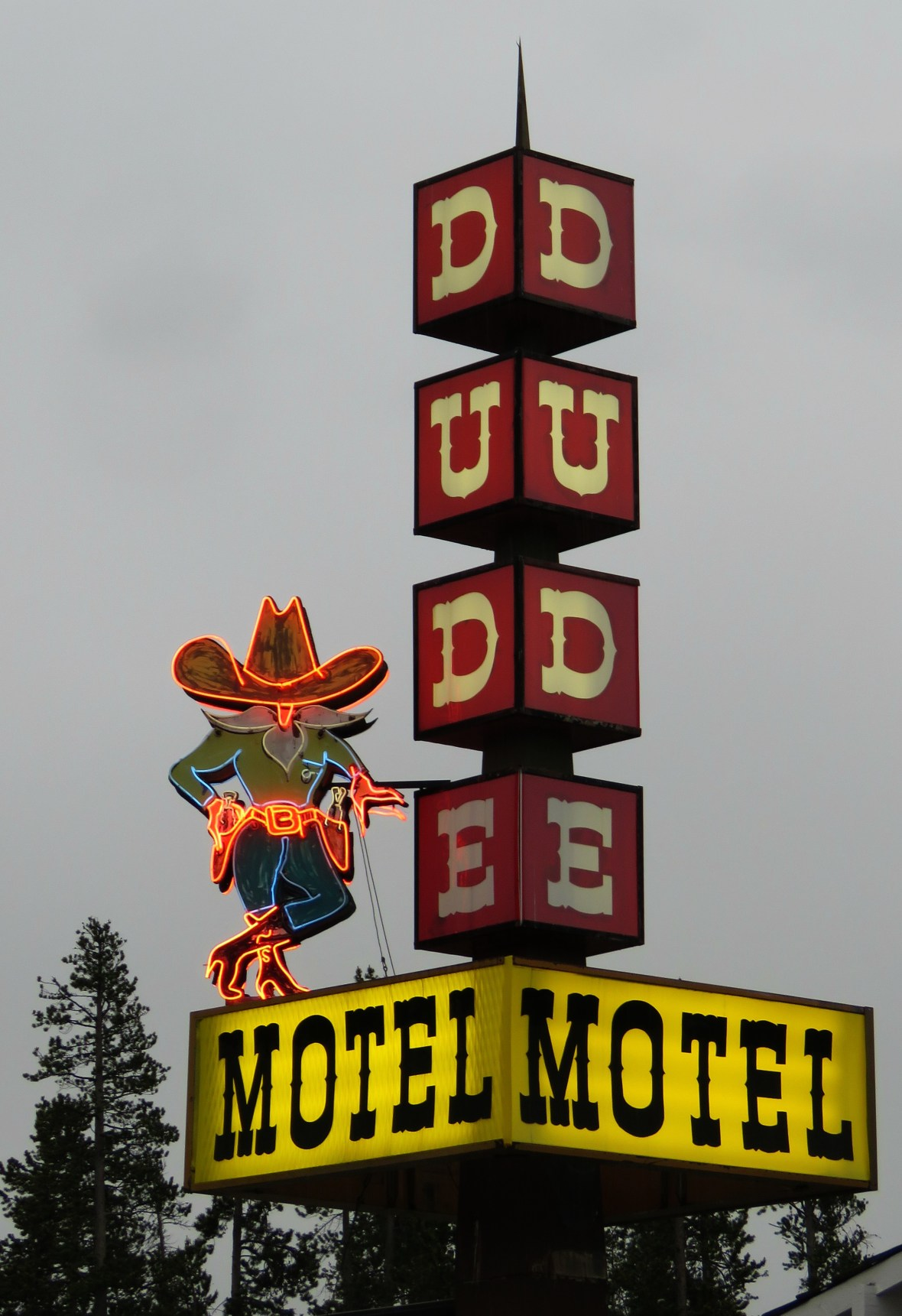 The Dude Motel - 3 Madison Ave, West Yellowstone, Montana U.S.A. - June 15, 2016