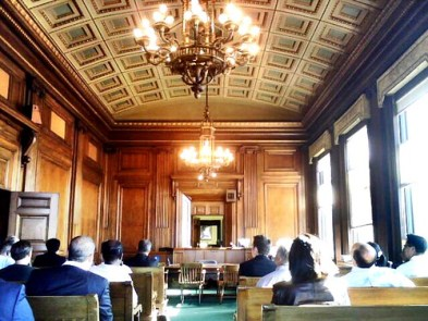 Special Civil Part courtroom, Essex County Hall of Records, Newark NJ