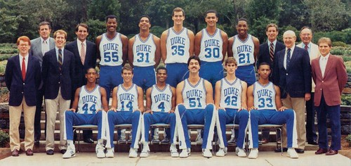 1986 1987 Basketball Team Repository Duke University