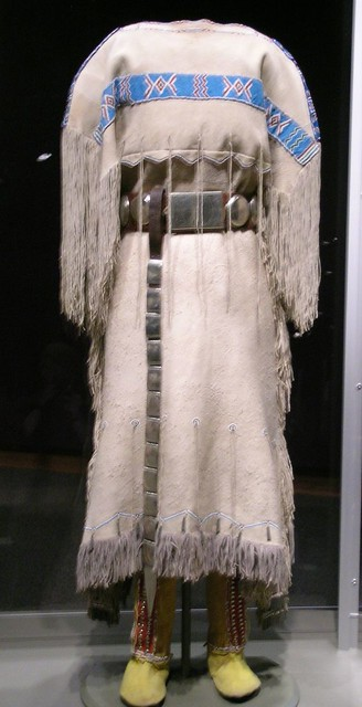 Comanche Three Hide Dress With Belt Belt Drop And High