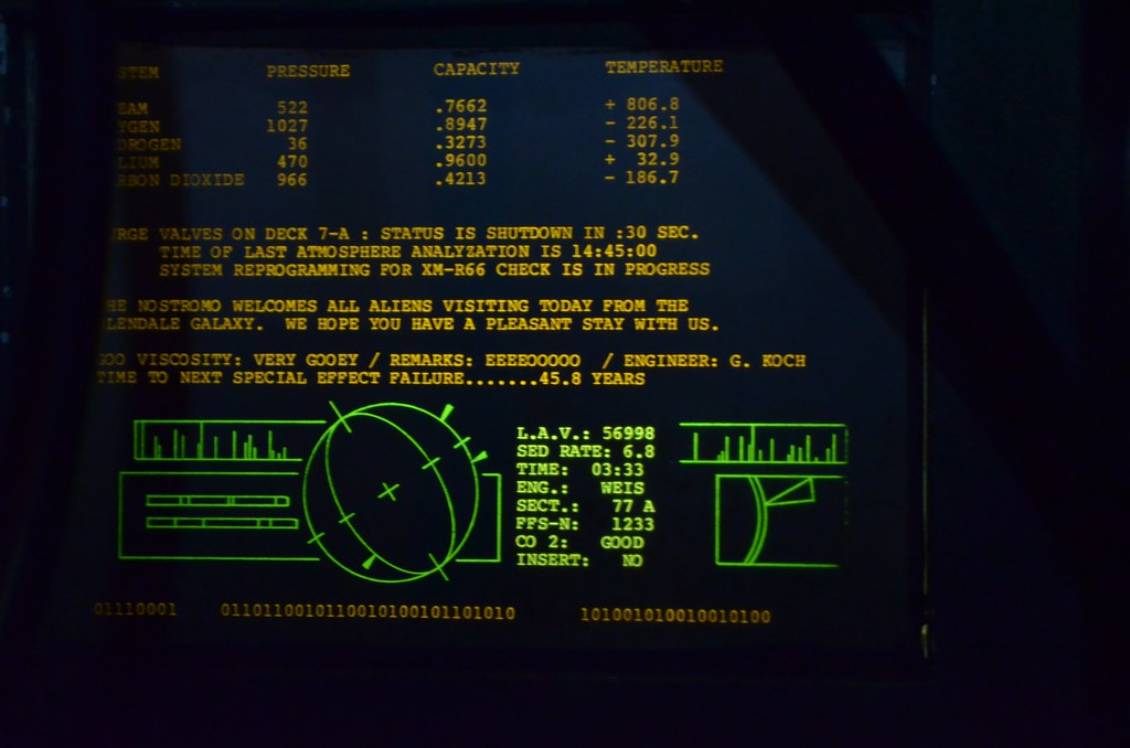 Nostromo Computer Display This Is From The Great Movie